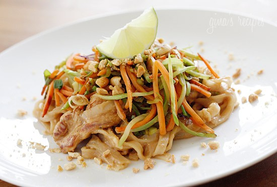 ASIAN PEANUT NOODLES & CHICKEN!!