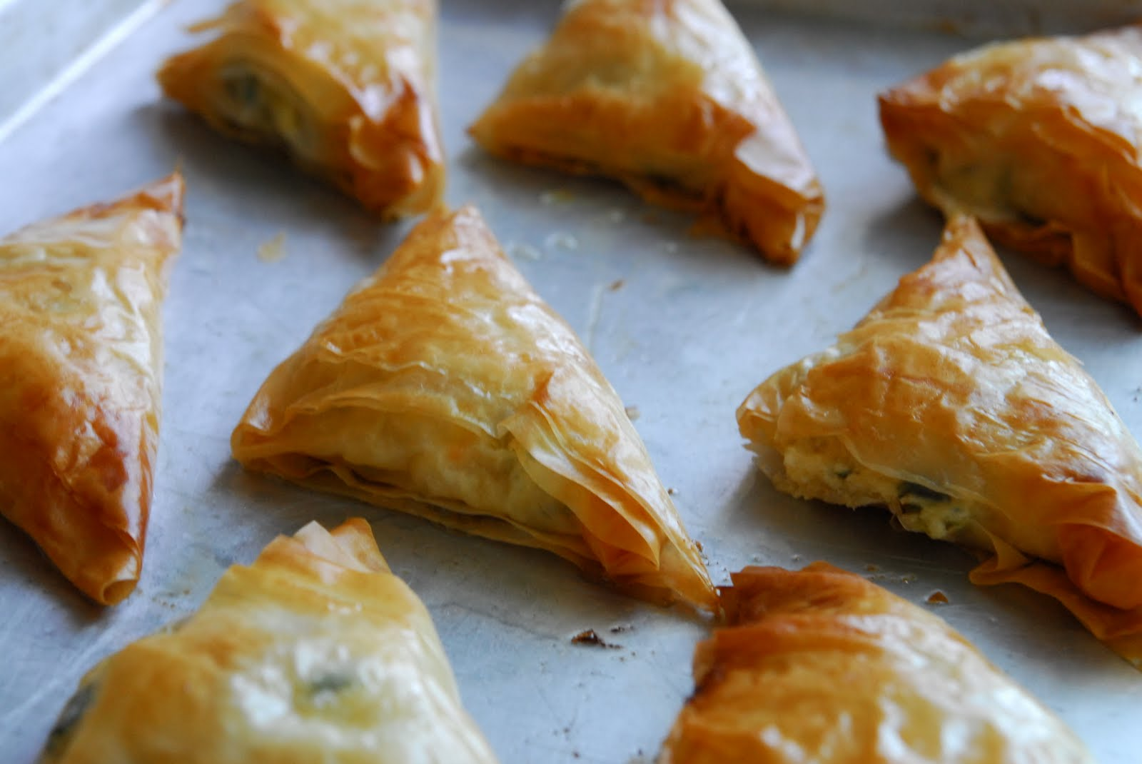PHYLLO TURNOVERS WITH SHRIMP & RICOTTA!!