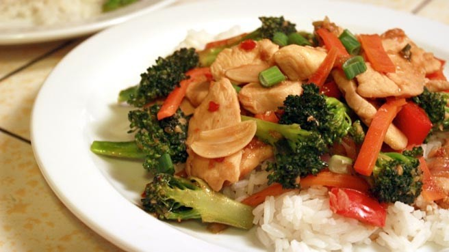 SWEET & SPICY CHICKEN STIR FRY!!