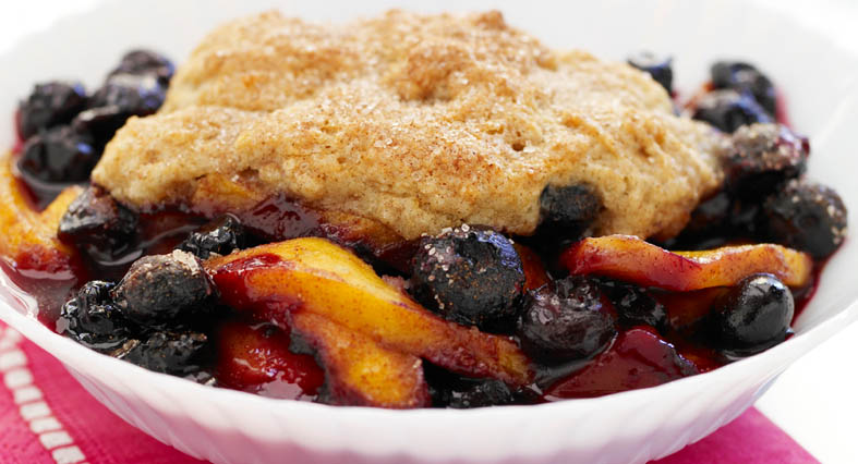 MANGO-BLUEBERRY COBBLER!!