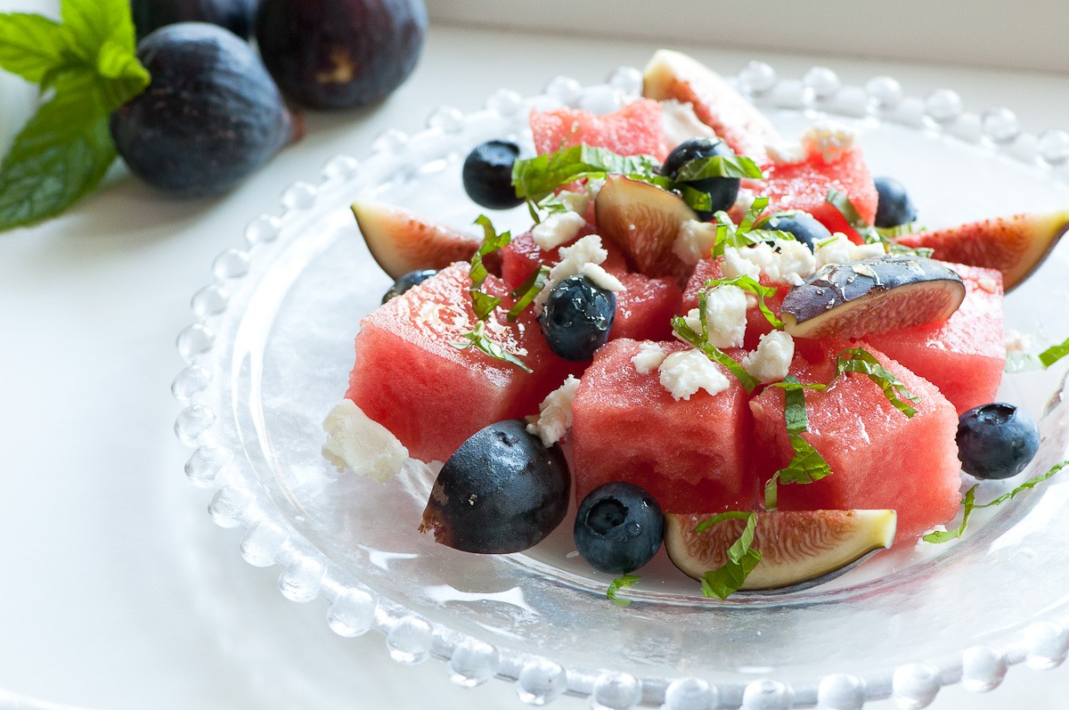 SUMMERTIME FIG & WATERMELON SALAD!!