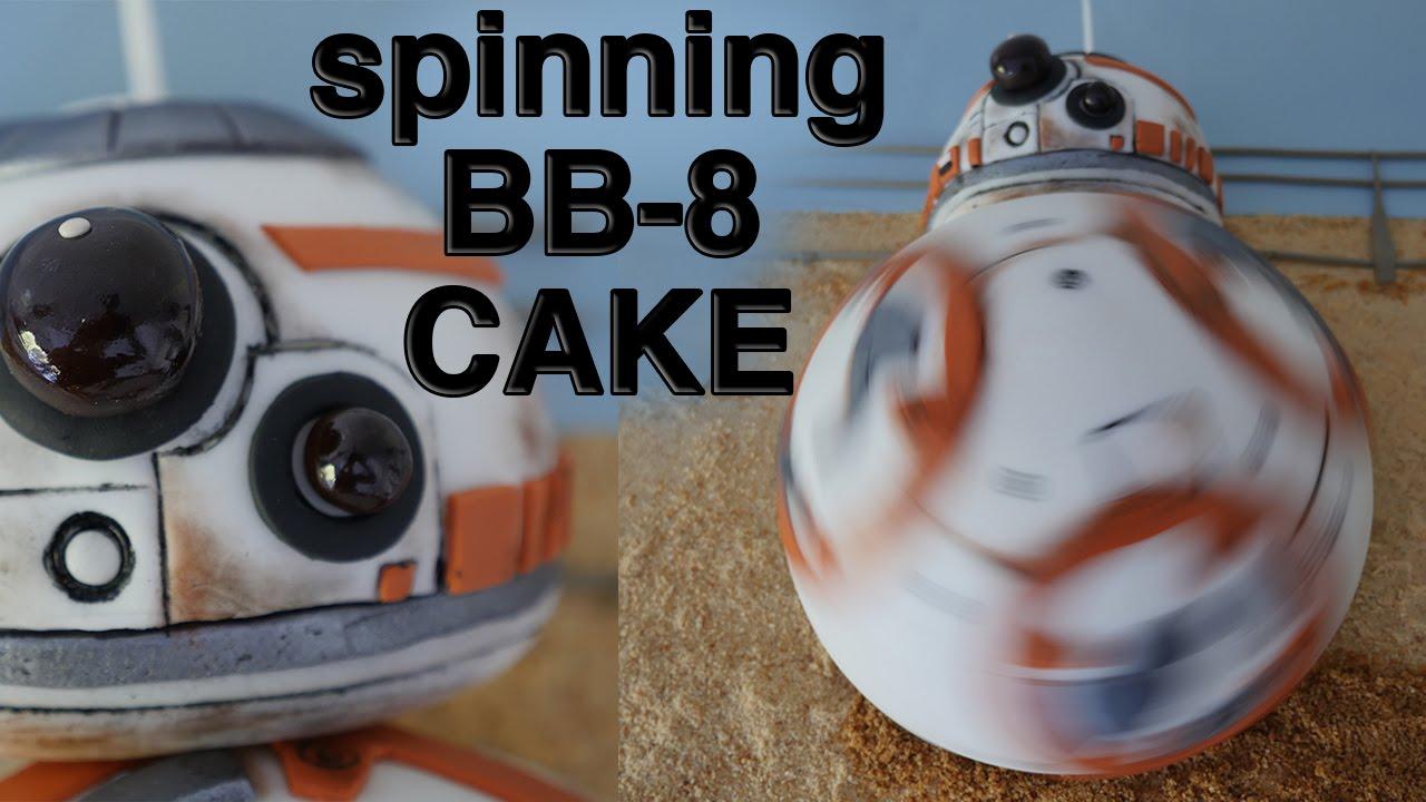 SPINNING BB8 CAKE!!