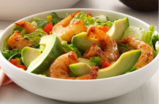 SHRIMP SALAD WITH CILANTRO DRESSING!!