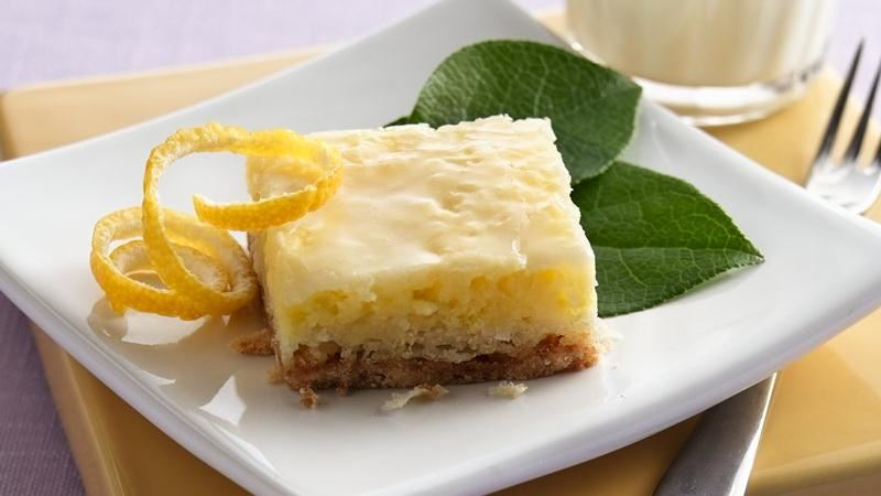 GLAZED LEMON COCONUT BARS!!