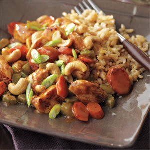 HONEY NUT CHICKEN STIR FRY!!