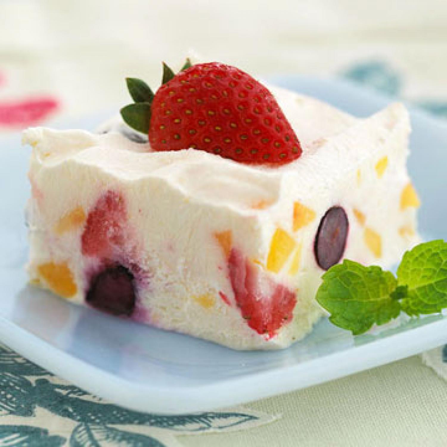 PEACH-BERRY FROZEN DESSERT!!