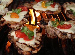 GRILLED ITALIAN PORK CHOPS!!