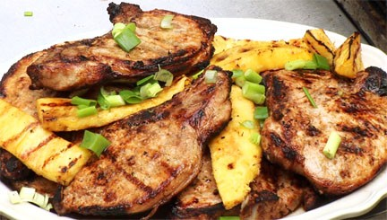 PINEAPPLE GRILLED PORK CHOPS!!