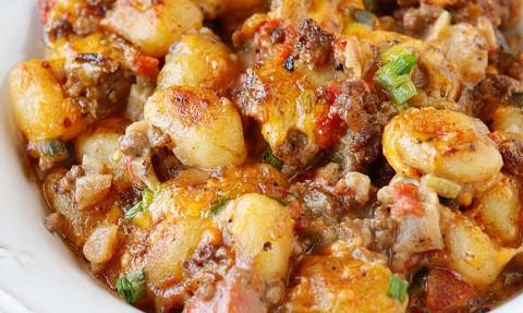 AWESOME CHEESEBURGER GNOCCHI!!