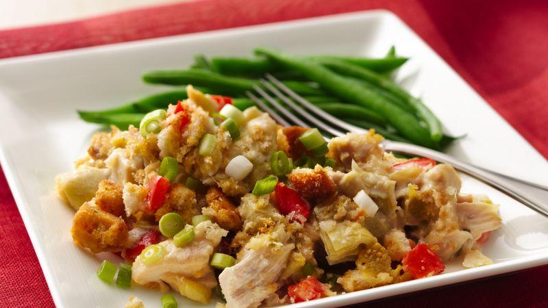 Easy Chicken Artichoke Casserole!!