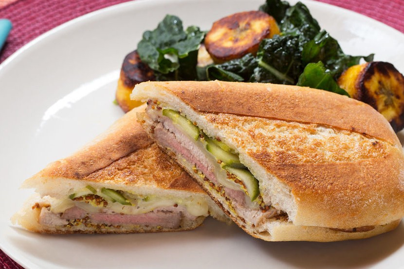 CUBAN SANDWICH W/ SWEET PLANTAIN & KALE SALAD!!