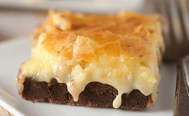 GOOEY BUTTER BROWNIES!!