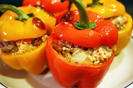 VEGETARIAN STUFFED PEPPERS!!