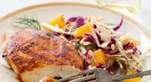 BARBECUE CUTLETS WITH CITRUS SLAW!!