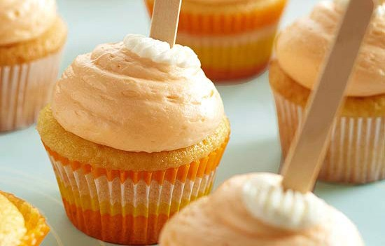 CREAMSICLE CUPCAKES!!