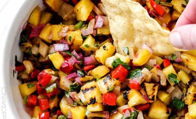 GRILLED PINEAPPLE & PEAR SALSA!!