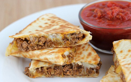 FULLY LOADED BEEF QUESADILLAS!!
