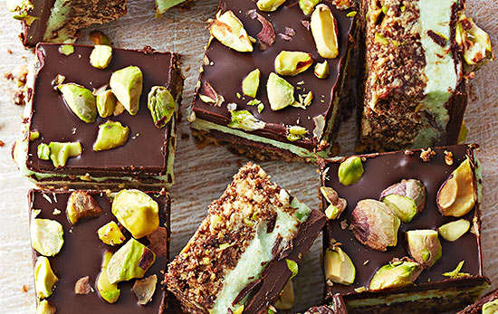 PERFECT PISTACHIO BARS!!